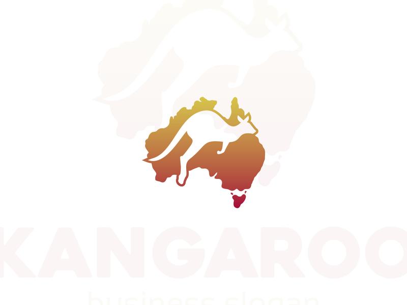 Australian Kangaroo Logo studio sport running logo template kangaroo icon australian kangaroo logo australia map identity logo design brand logotype logo