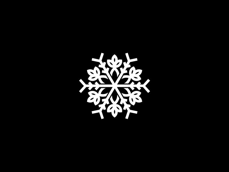 Neat Snow Logo Snowflake Flower professional minimal illustration template software snowflake logo snowflake flower snowflake snow service logotype logo identity frost flower snow logo logo design business