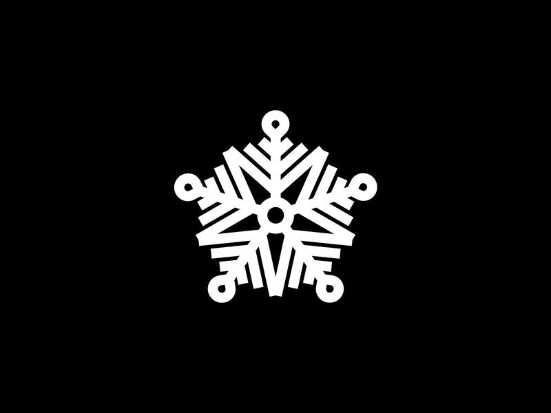 Snow Star Snowflake Logo template logo design winter logo winter web software snowflake star snowflake identity design star visual identity snow logo logotype logo frost freeze snowflake logo