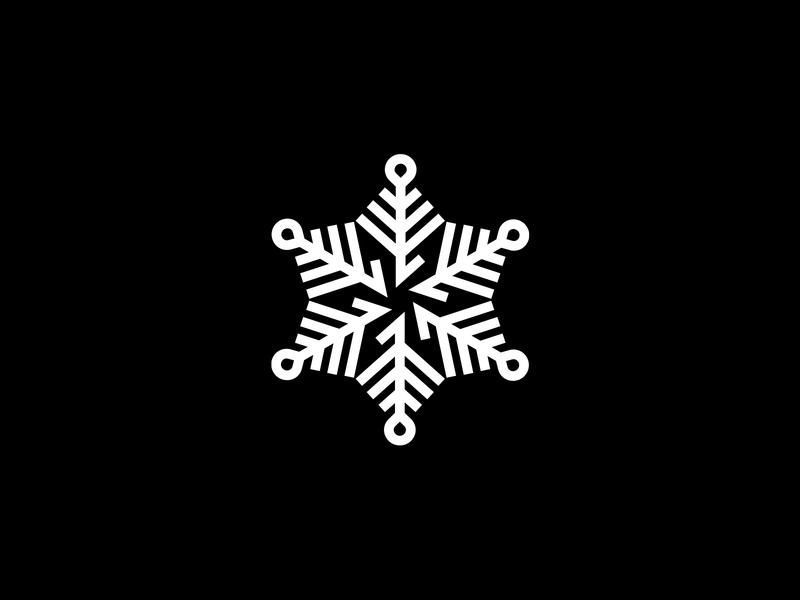 Frost Snow Logo Snowflake template branding design logo design snow logo nature logomark logotype vector shape simple tech snow frost