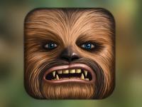 Chewbacca iOS icon. Star wars fan art.