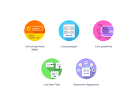 Icons for front end development workflow landing page