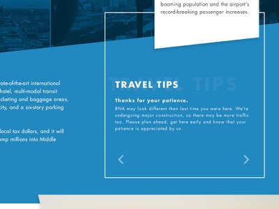 Airport Expansion landing page detail 2 landing page text illustration carousel clean modern web