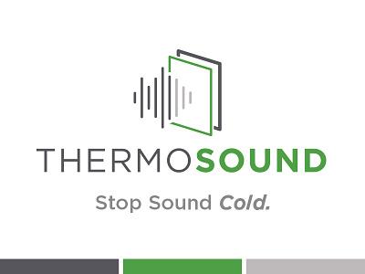 Thermosound Logo modern simple text identity illustration logo