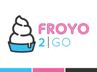 FroYo 2Go Logo froyo concept simple playful fun illustration logo