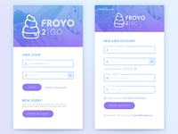 FroYo 2Go App Login/Signup (updated)