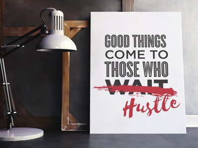Good Things (poster mockup) typography poster