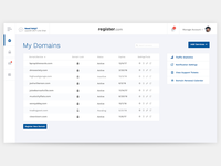 Register.com Dashboard Redesign (concept)
