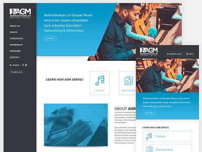 AGM Website Landing Page clean modern mockup design website
