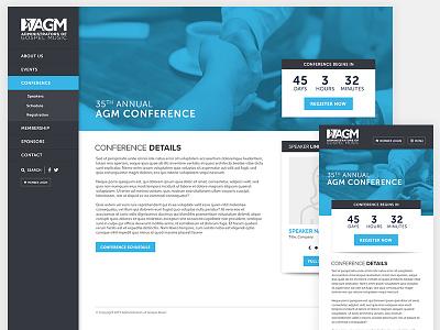 AGM Website Interior Page website mockup design clean