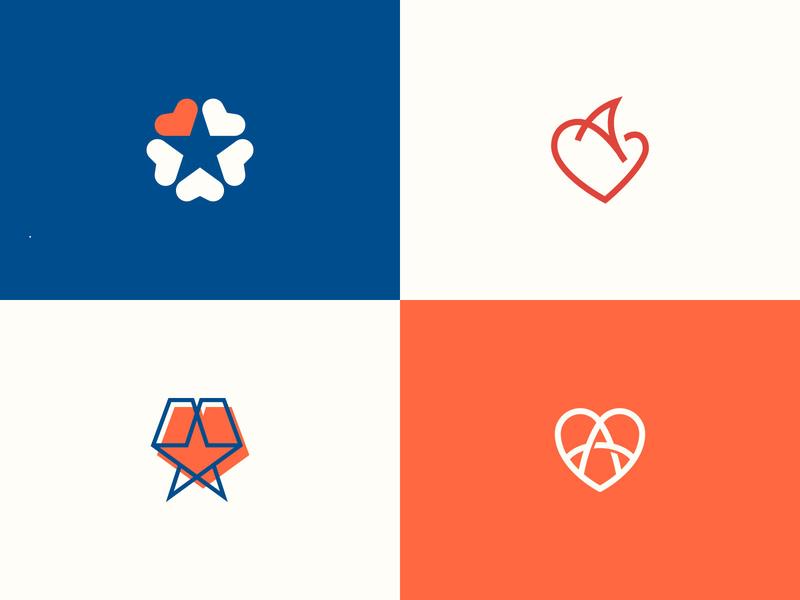 I love my city texas logo branding