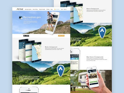 Active Mobile clean app showcase website