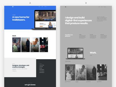 Portfolio Redesign WIP personal redesign ab portfolio website