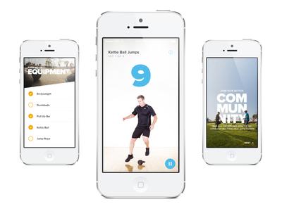 ActiveX Trainer App art direction visual design hiit tabata training fitness workout timer ux ui app