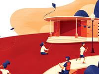 Brazos Park Editorial Illustration
