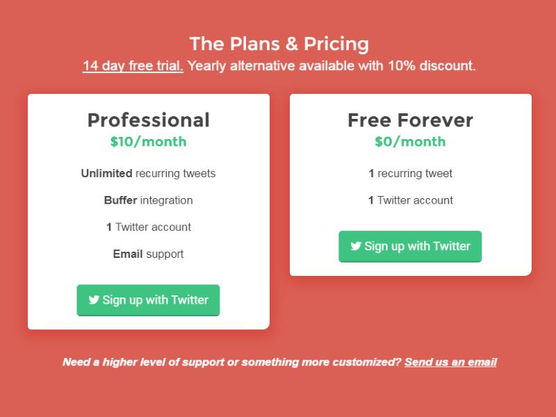 Flutter Pricing red saas design web pricing