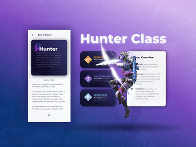 Destiny 2 Knowledge Base app mobile game design cards application design wiki knowlage base destiny 2 game