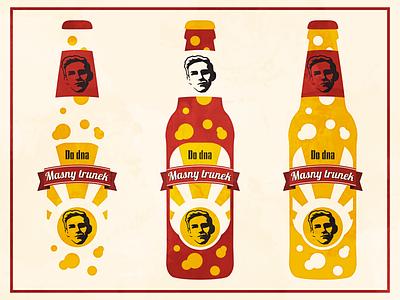 Birthday beer label sticker labeldesign beer minimal flat vector illustration design