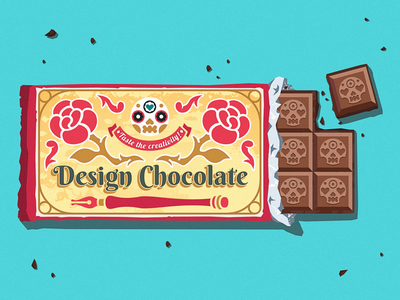 Design Chocolate sticker flat design illustrator vector art package design chocolate