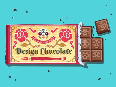 Design Chocolate sticker flat design illustrator vector art package design chocolate