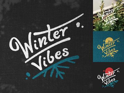 Winter vibes texture typedesign winter vector sticker branding design logo design