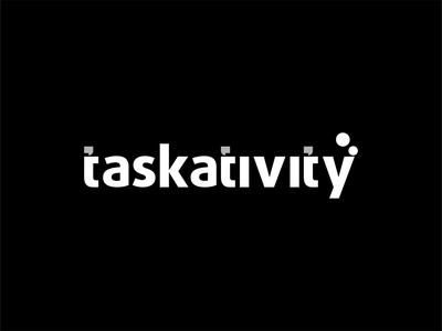 Logotype Taskativity type graphic design illustrator illustration minimal vector typography design logo branding