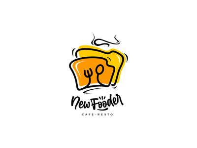 New Fooder Cafe and Resto illustrator minimal design typography illustration graphic design icon vector logo branding