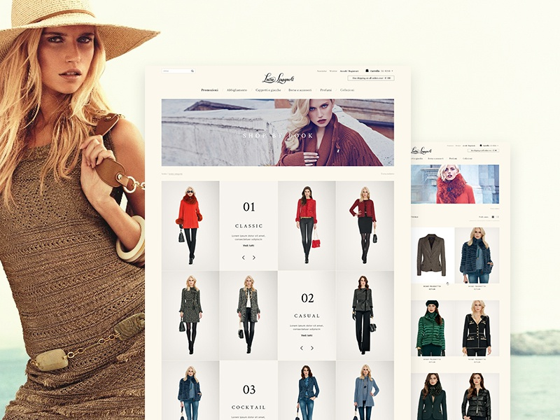 LUISA SPAGNOLI - Official Online Store website shop online shop ecommerce luisa  spagnoli fashion layout d2fc9b28f6b