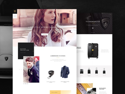 Lamborghini Online Store webdesign ui artdirection shoponline website automotive onlinestore lamborghini