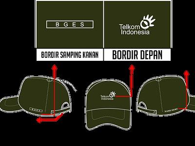 TOPI TELKOM BUMN design custom hat hats product design corel draw