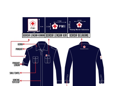 Desain Kemeja Korsa PMI Warna Biru Dongker shirt design shirt vector product design corel draw