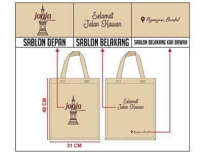 Desain Tote Bag Custom Jogja corel draw logo branding product design vector tote bag totebag