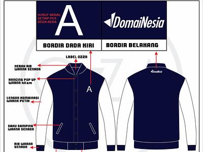 Domainesia Varsity Jacket jacket varsity branding design vector product design corel draw
