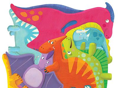Dinosaur puzzle colorful dinosaurs design illustration whimsical kidlitart kids books childrens books childrens illustration childrens book illustration