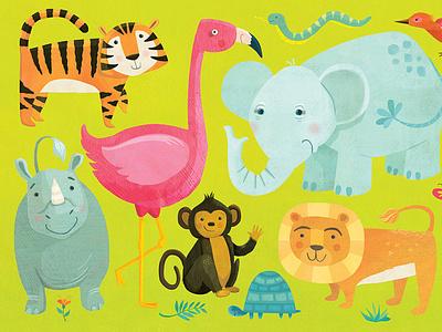 Animal jigsaw puzzle illustration whimsical kidlitart kids books childrens books childrens illustration childrens book illustration