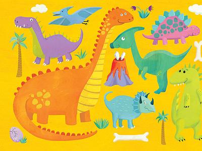 Dinosaur jigsaw puzzle dinos illustration whimsical kidlitart kids books childrens books childrens illustration childrens book illustration