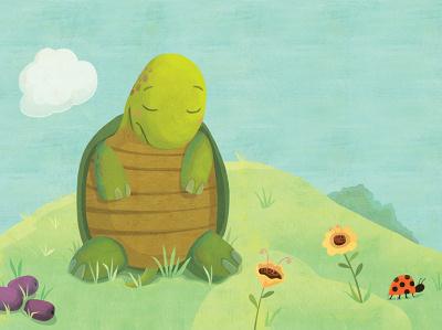 The Happy Journey turtle illustration whimsical kidlitart kids books childrens books childrens illustration childrens book illustration