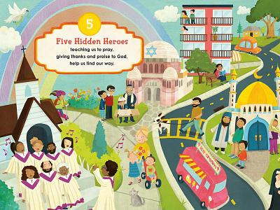 10 Hidden Heroes by Mark Shriver illustration whimsical kidlitart kids books childrens books childrens illustration childrens book illustration