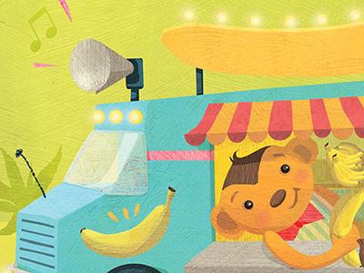 Monkey Banana Truck kidlitart banana truck childrens books whimsical monkeys math primary math education financial literacy