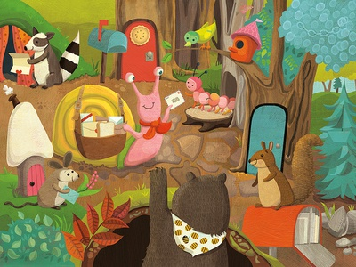 Highlights for Kids - Snail Mail hidden pictures