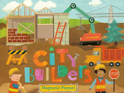 City Builders magnetic playset cover