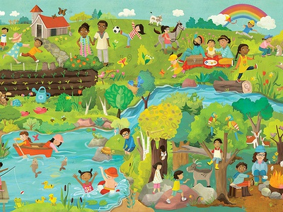 World Vision spring bounceback poster