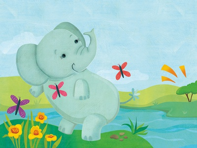Illustrations for Little Hippo sound board books