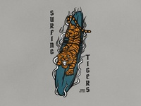 Surfing Tigers