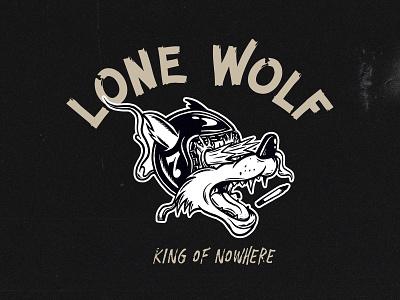 King Of Nowhere procreate illustrator wolf lone wolf vintage ipadpro vector illustration