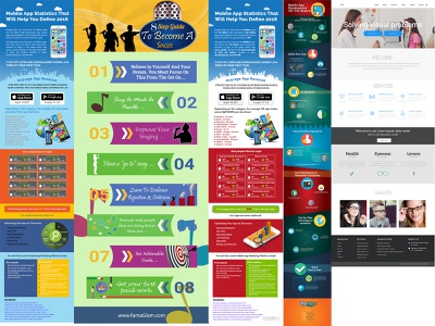 infographic pages website website design webdesign page infographic post photoshop