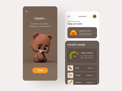 Pet tracker app ui health app ooops not found ux vector illustration ui appdesign app app uiux app design icon ui web ios guide app design tracker app tracker bear pet