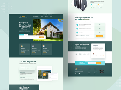 Real Estate Landing Page web design illustraion creative visual design dailyui agency minimal landing page uidesign estate agent property management property developer design housing properties ux ui 2021 trend userinterface real estate