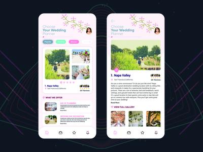 Wedding Planner App Concept