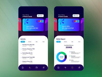 Personal Wallet App Design